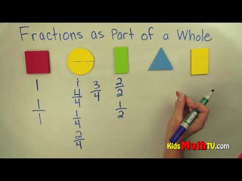 How To Find Fractions As Part Of A Whole Video Tutorial