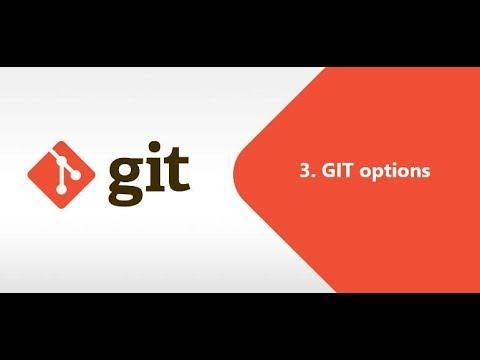 3. git options