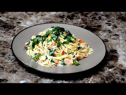 Garlic Shrimp Spaghettini