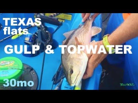 Texas Flats Fishing for Top Water Redfish & Trout - Aransas Pass
