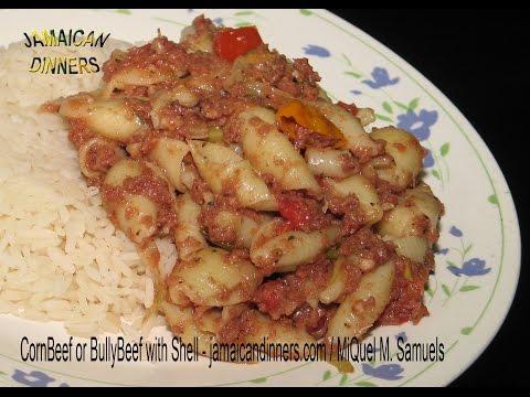 CORNBEEF or BULLY BEEF SHELL MACARONI recipe