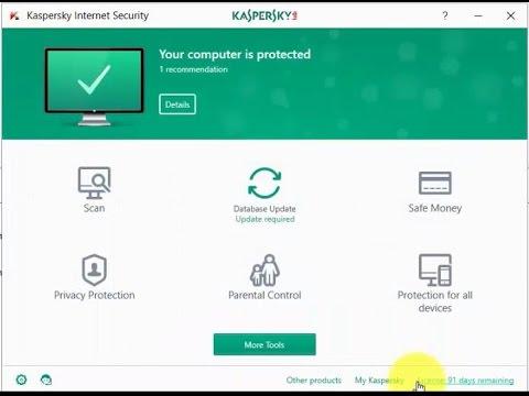 Active Kaspersky Internet Security 2017