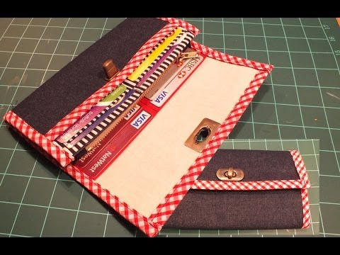 How to make a wallet /Purse PART 2 of 2 / DIY Bag Vol 10B