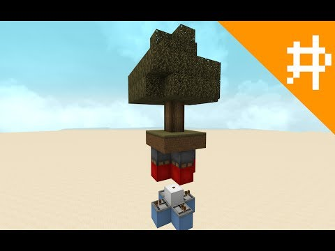 Minecraft Redstone - Tree Torch Key (4 sides)