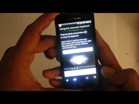 How to bypass the activation screen on the Htc Droid Incredible Verizon