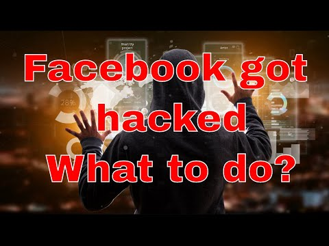 My Facebook got hacked last night, and they changed my password so I can't log back in, what do I do