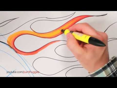 How to Draw Flames for Cars (Part 1)