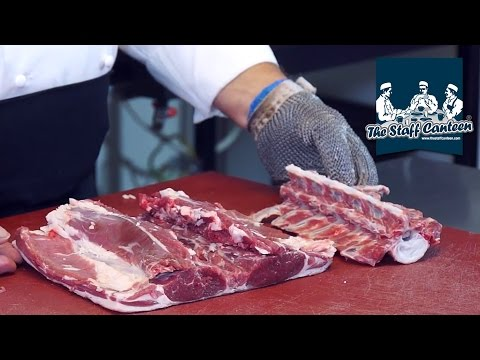 How to prepare a Scotch Lamb lumber section or Scotch Lamb saddle