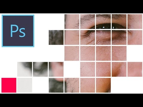 Photoshop CC Tutorial: How to create a Square Mosaic Collage Photo Effect