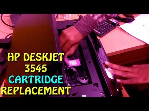 HP DESKJET 3545 CARTRIDGE REPLACEMENT