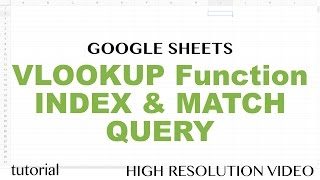 Google Sheets VLOOKUP from another Spreadsheet with