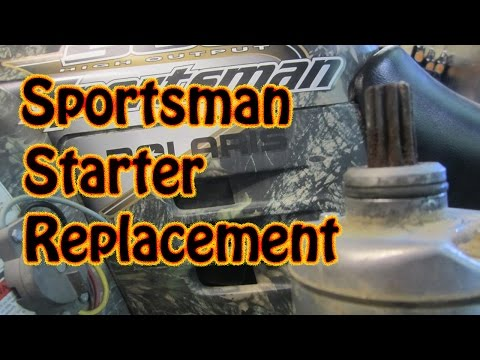 DIY How to Replace a Polaris Sportsman ATV Starter Motor No Clutch Removal Required