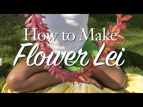 How to Make a Plumeria Flower Lei