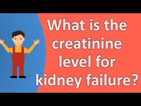 What is the creatinine level for kidney failure ?