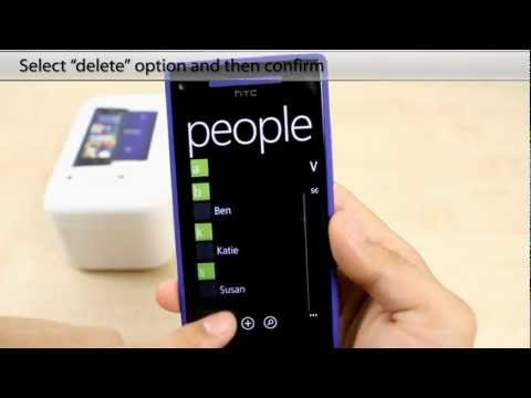 How to Delete a contact on the HTC 8X