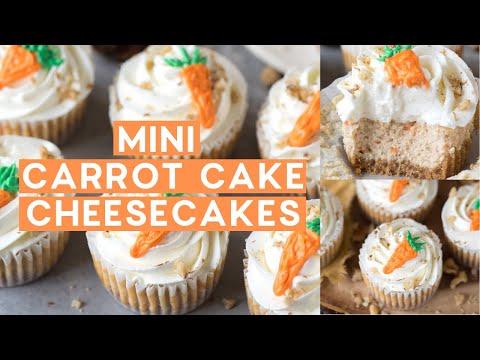 Mini Carrot Cheesecakes