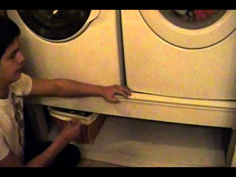 Diy washer dryer stand part 10 All Done!!