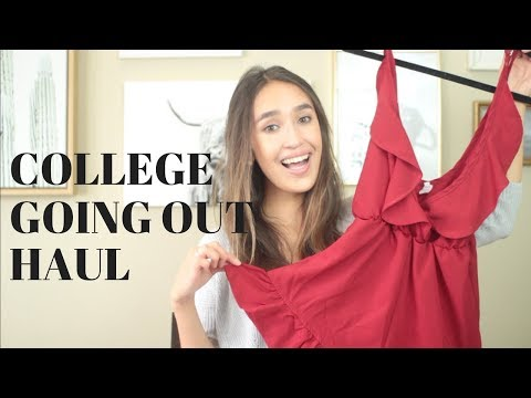 COLLEGE GOING OUT HAUL | Trendy Ideas for College Parties