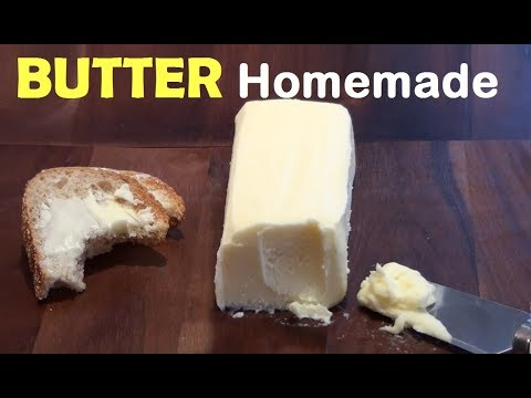 How To Make BUTTER At Home - EASY Homemade Butter Recipe