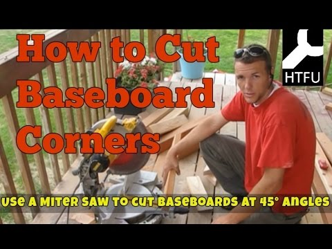 How to Miter Baseboards at 45 Degrees  Sawing Inside Baseboard Corners and Outside Baseboard Corners