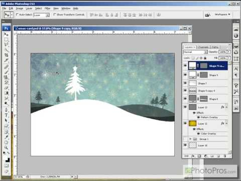 Photoshop - Contemporary Greeting Card