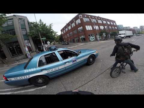 Bicyclist pulled over for