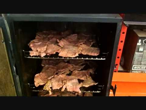 beef jerky on the electric smoker