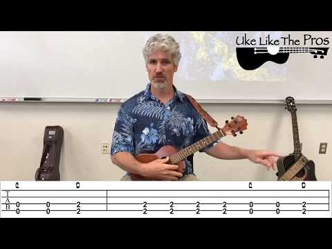 I Want To Hold Your Hand Beatles Ukulele Lesson Intro (Guitar Part 2)