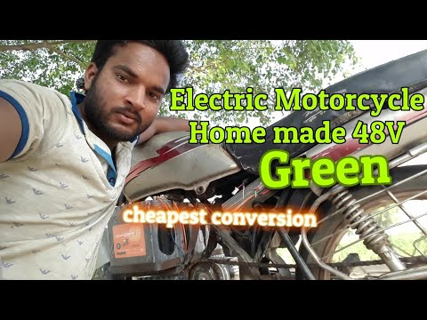 Electric motorcycle build from old petrol motorcycle Part-1