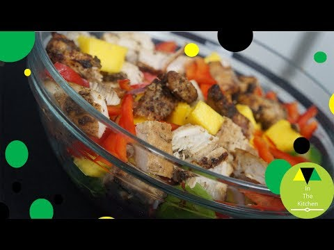 Jamaican jerk chicken salad | Jerk chicken salad