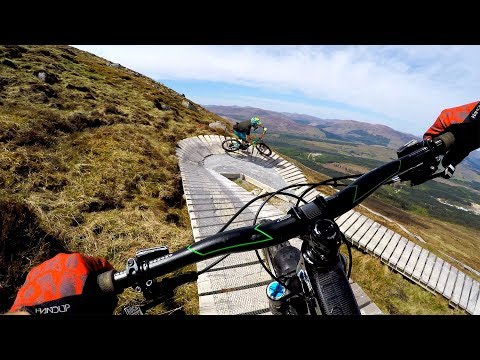 The butt-puckering boardwalks of Ft. Bill   Mountain biking Top Chief at Fort William