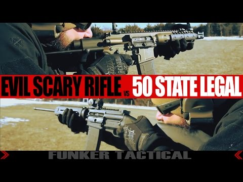 Evil Assault Rifle vs 50 State Legal | Why Gun Control Laws Are Dumb