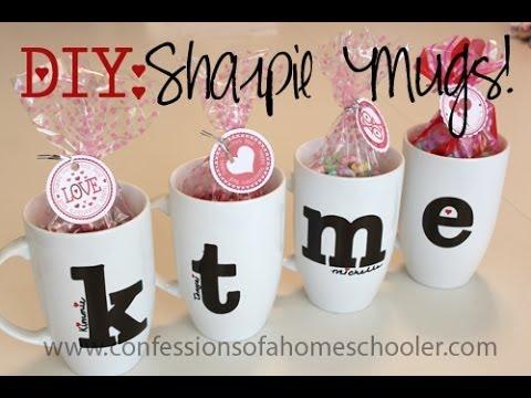 DIY Valentine's Day Sharpie Mugs