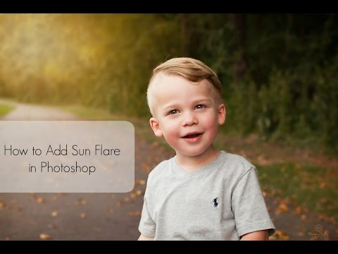 Photoshop Tutorial | How To Quickly Add a  Sun Flare