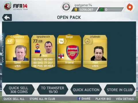 FIFA14 on IOS7 : Ultimate Team Pack Opening