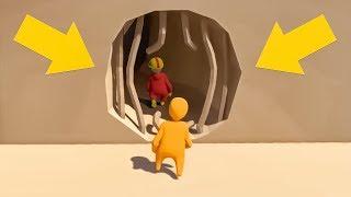 *SECRET* HIDDEN CAVE EXPLORING! (Human Fall Flat Episode #7)