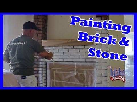 How to paint a brick fireplace.  Great hack with paint.