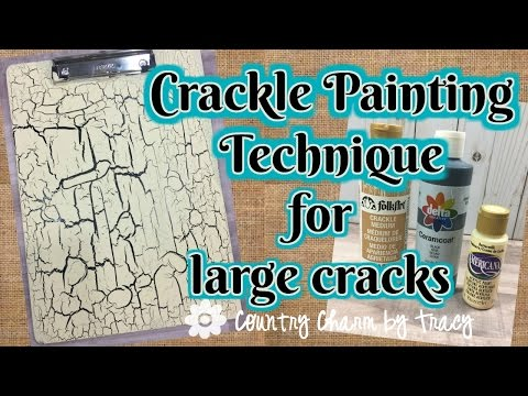 How to Use Crackle Paint to Make Large Cracks