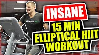 Insane 15 Minute Elliptical Workout - HIIT Workout
