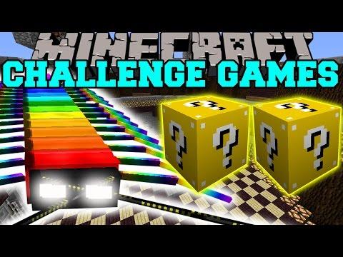 Minecraft: RAINBOW CENTIPEDE CHALLENGE GAMES - Lucky Block Mod - Modded Mini-Game