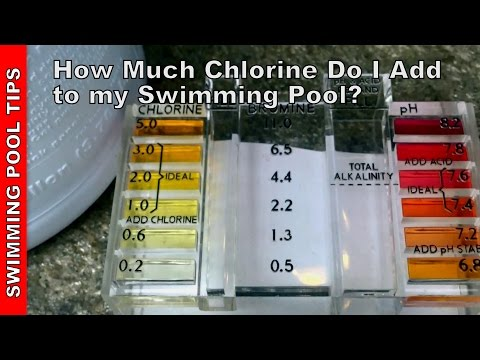 How Much Chlorine do I Add to My Pool?