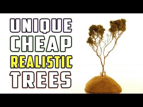 Realistic Cheap and Easy Trees for Your Model Railroad - How-To