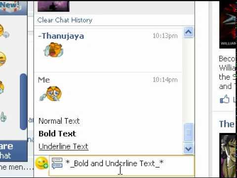 Facebook Chat letters secret