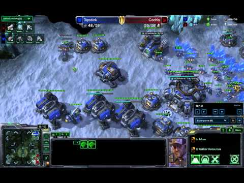 SeKo Starcraft - Dipstick vs Cochis - SC2 HOTS Silver League Strategy and Advice