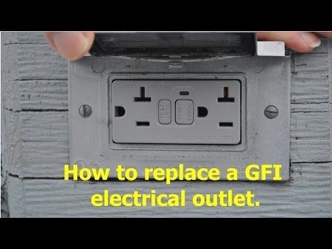 How to replace a GFCI / GFI electrical outlet.