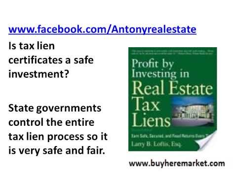 Government Tax Lien Certificates & Tax Deed Sales Opportunity To Make Money