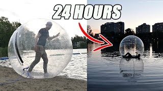 TRAPPED INSIDE A GIANT ZORB BALL FOR 24 HOURS!! *WATER CHALLENGE*