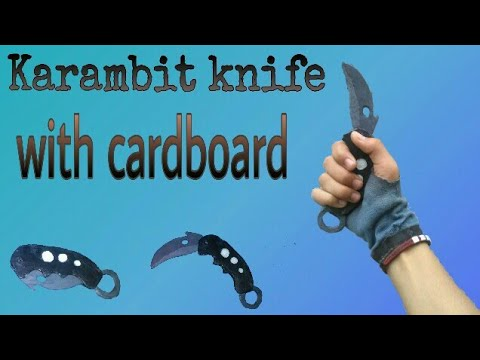 How to make a karambit folding knife with cardboard