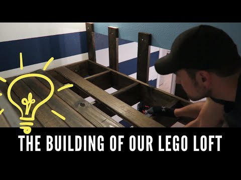 THE BUILDING OF OUR LEGO LOFT || Small House Living