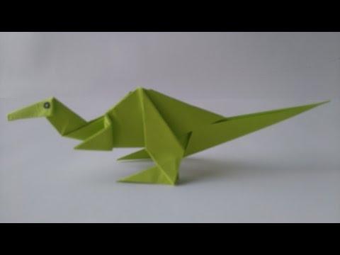 Origami dinosaur - How to make an Origami dinosaur - Easy Origami Tutorial